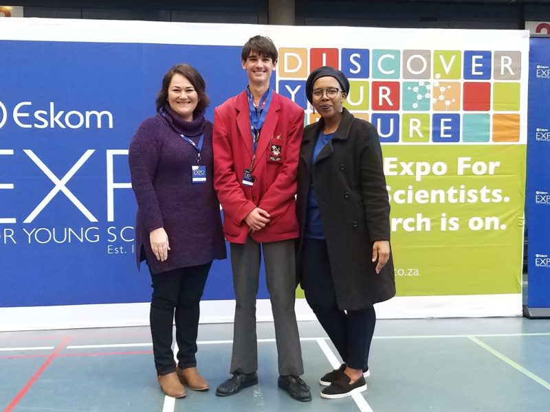 Daniel Alderton, participated in the Expo for Young Scientists and was awarded a gold medal for his outstanding engineering project